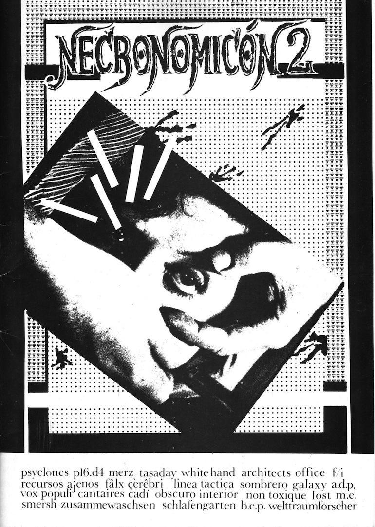 Portada del segundo número del fanzine Necronomicón, 1985