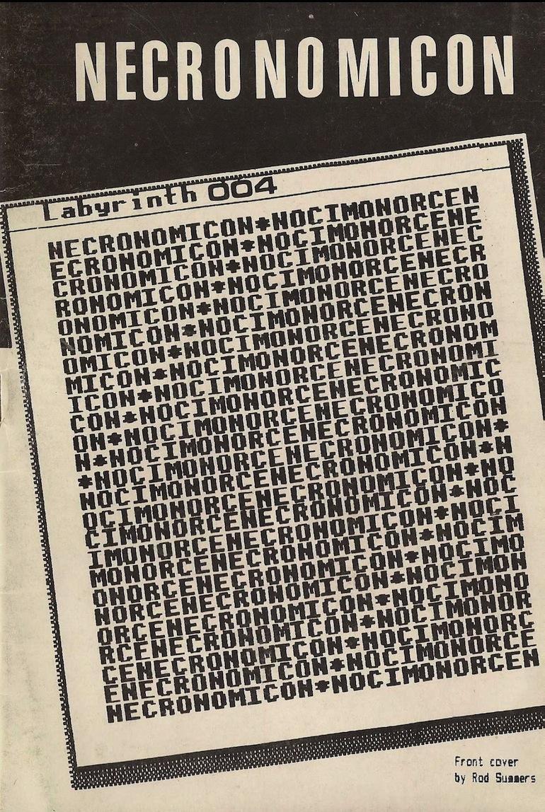 Portada del cuarto número de Necronomicón, 1987