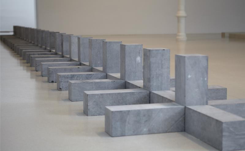 Exhibition view. Carl Andre. Sculpture as Place, 1958-2010, 2015