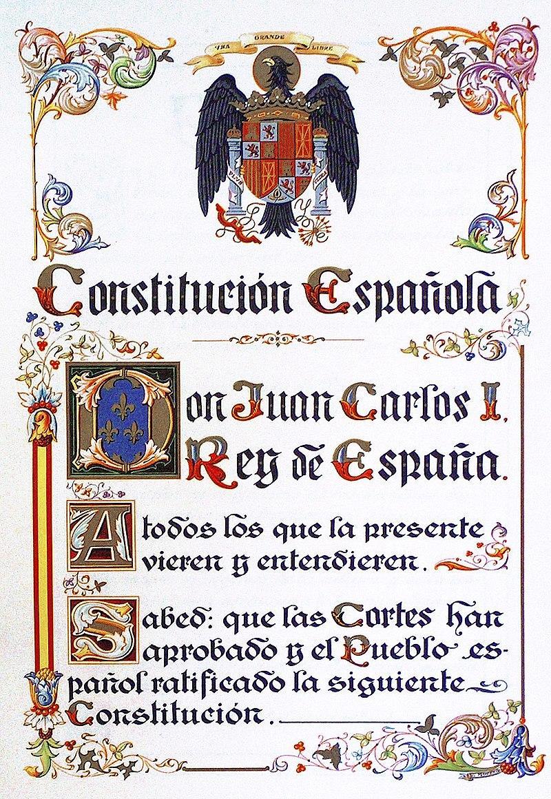 Constitucíon española, 1978.