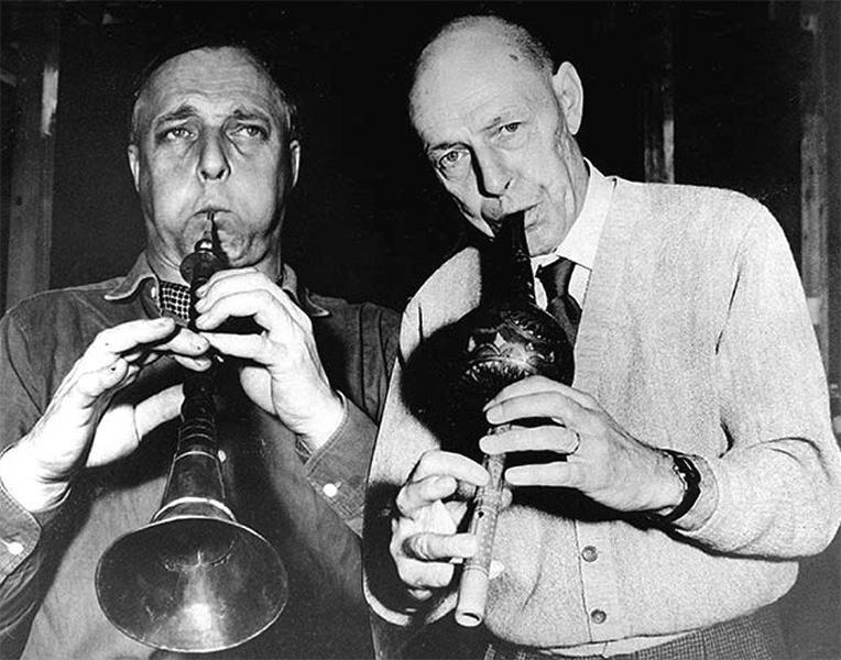 Asger Jorn y Jean Dubuffet, 1961. Foto de J. Weber