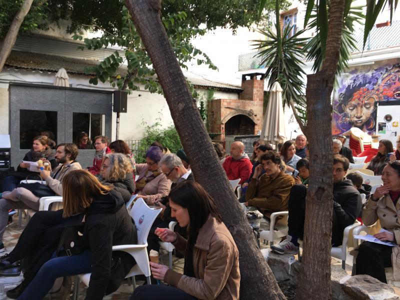 Seminario Picasso en la institución monstruo en La Casa Invisible de Málaga. 2017. Fotografía: Sara Buraya
