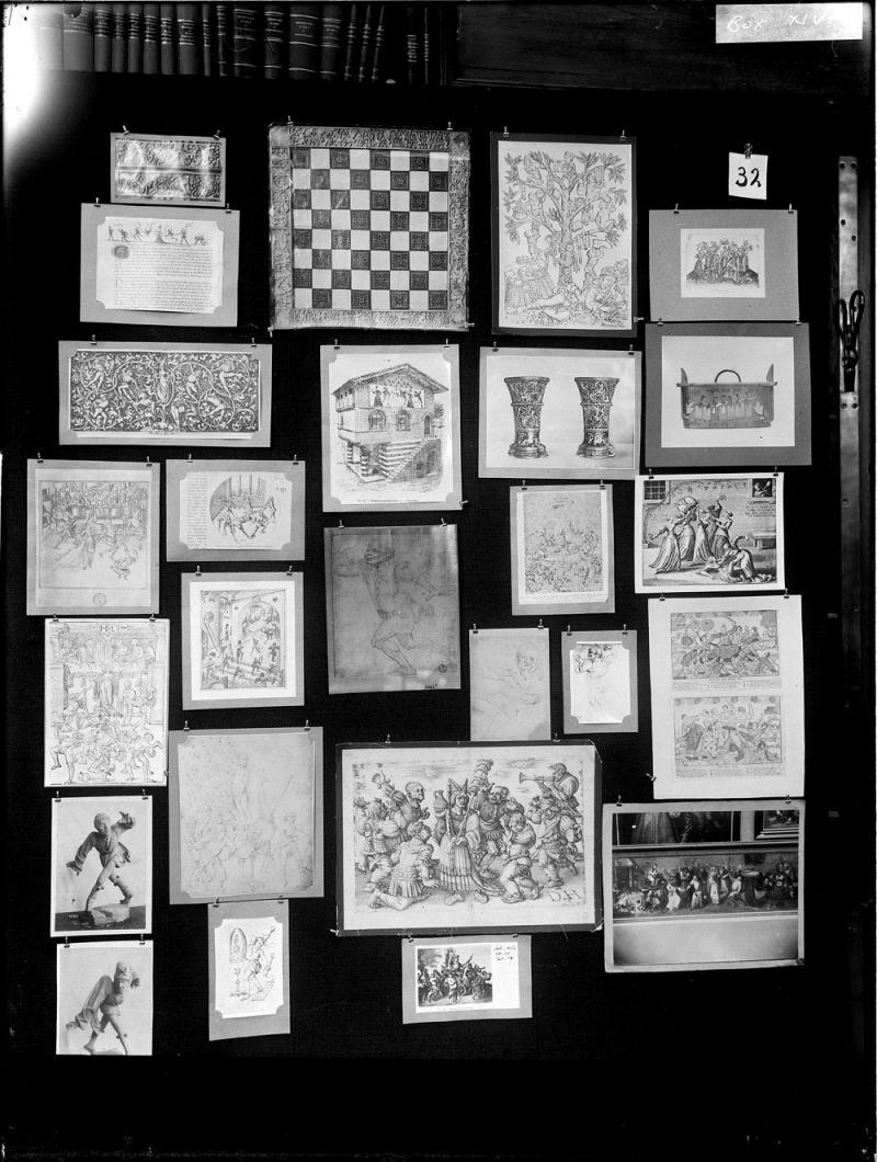 Aby Warburg. Detalle de uno de los paneles del Atlas Mnemosyne, 1925-1929