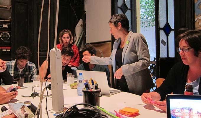 Imagen del taller Surviving Picasso. 2012. Fotografía: Rogelio López Cuenca.