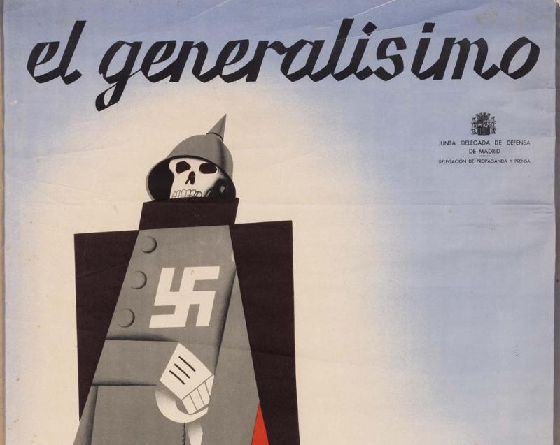 Pedrero. El Generalísimo. Detalle, litografía, 1937