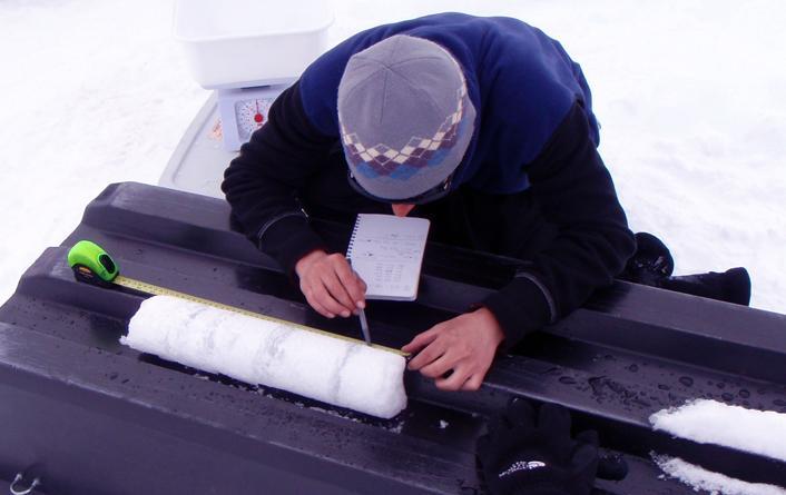 Susan Schuppli. Measuring ice core. 2017