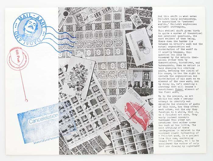 Sellos y matasellos de artista. Ámsterdam, Stempelplaats, Rubber Bulletin, vol. 2, nº 8, 1979. Catálogo de exposición