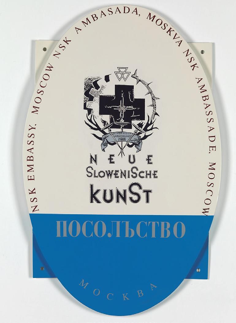 Placa de la Embajada de NSK en Moscú impulsada por IRWIN en 1992