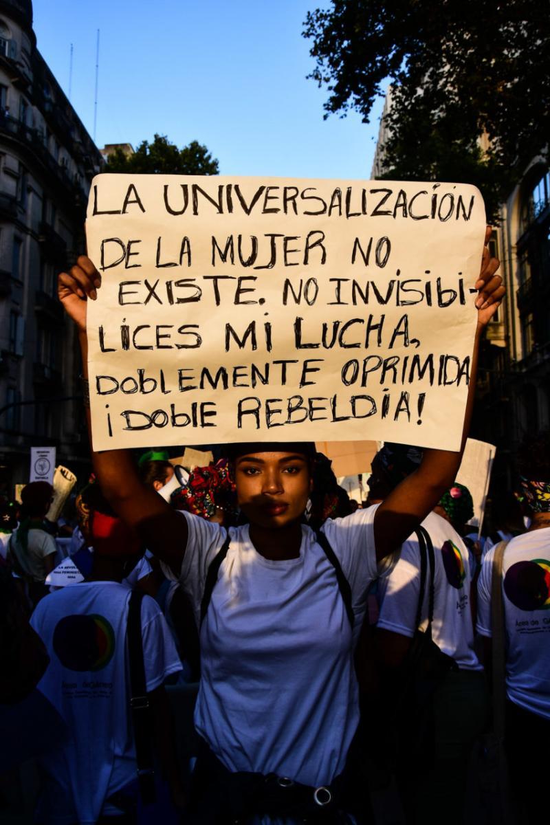 Mar Díaz. Manifestación del 8M, Buenos Aires, 2019