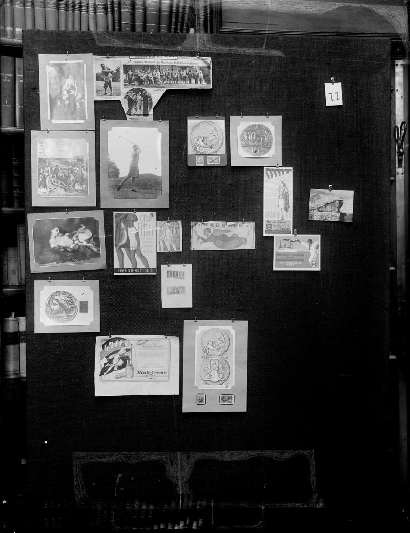 Aby Warburg. Detalle de uno de los paneles del Atlas Mnemosyne, 1925-1929.