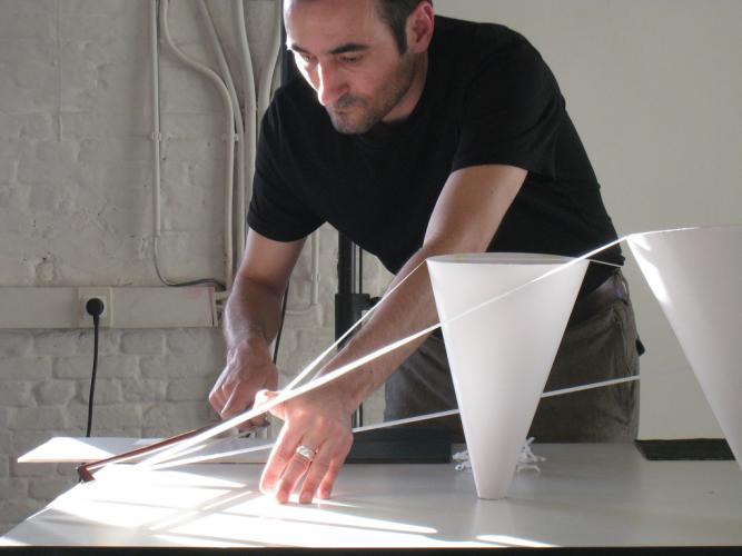 Fabonthemoon.Pascal Battus & Alfredo Costa Monteiro paper & microphones, 2010