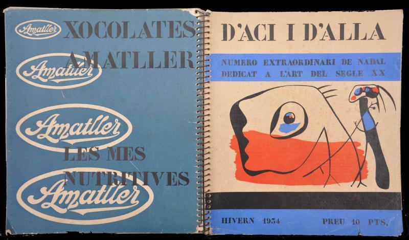 D'ací i d´allà , Portada y contraportada del número extraordinario de Invierno.Imagen cubierta Joan Miró. Barcelona, 1934