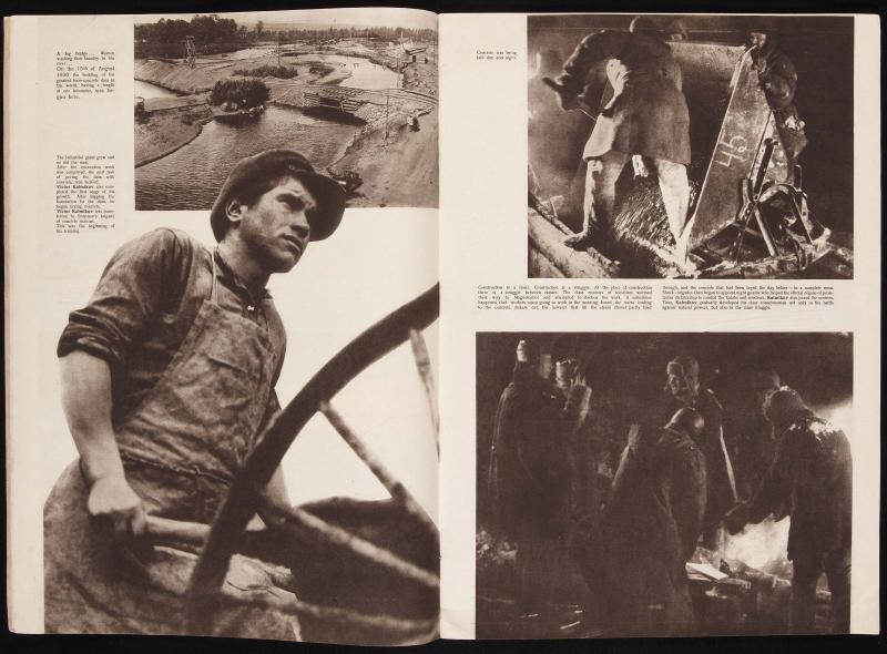 Revista URSS en construcción, nº1, 1932. Imagen de Max Alpert (de la serie Viktor Kalmykov en Magnitogorsk)