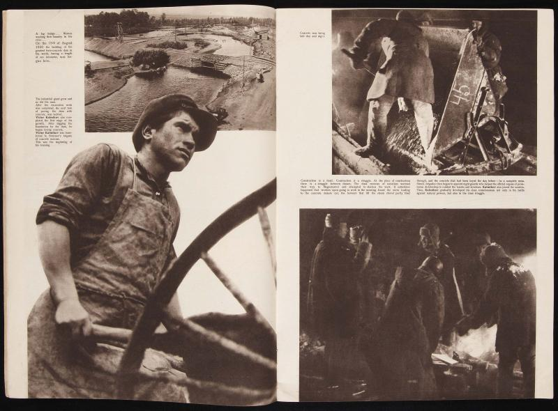 Cover of URSS in Construction, nº1, 1932. Photo by Max Alpert (from the series Viktor Kalmykov at Magnitogorsk)