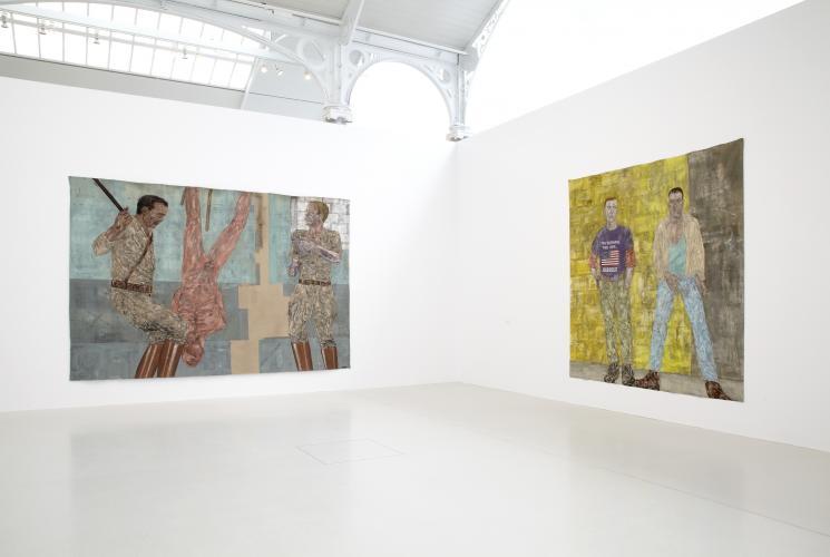 Exhibition view.  Leon Golub, 2011