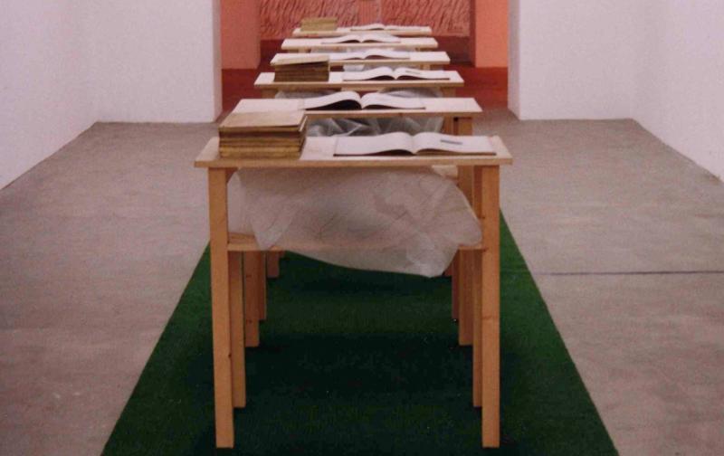 Concha Jerez/José Iges Habitación de lectura 1492-1992 Galerie Schüppenhauer (Colonia), 1999