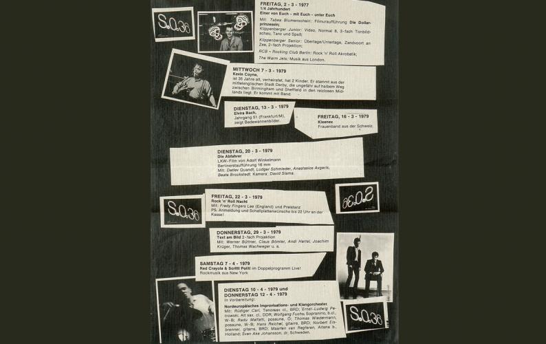 Veranstaltungsplakat S.O. 36Berlin, 1979