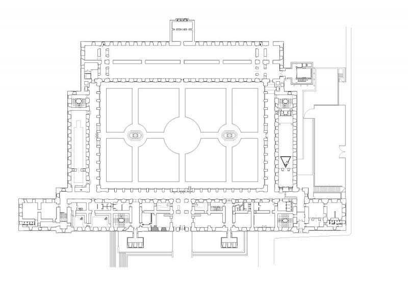 Planta 1 del edificio Sabatini. Museo Reina Sofía