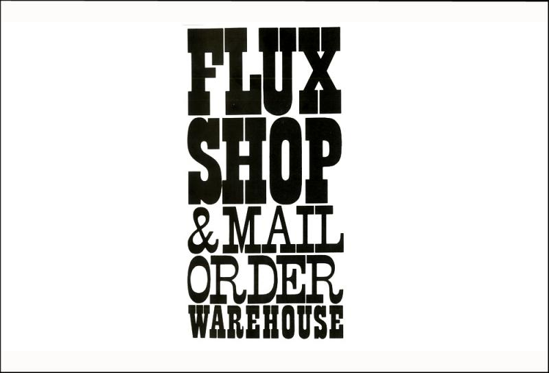 George Maciunas. Grafico para Flux Shop and Mail Order Warehouse en el Fluxus Nwespaper, 1965