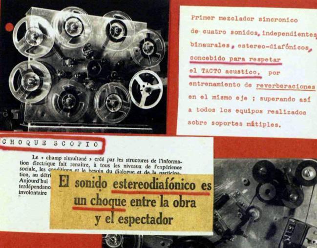 Collage relativo al sonido diamónico y el sonido de acústica táctil