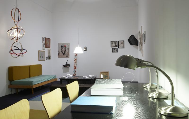 Vista de sala de la exposición. Roberto Jacoby. El deseo nace del derrumbe, 2011