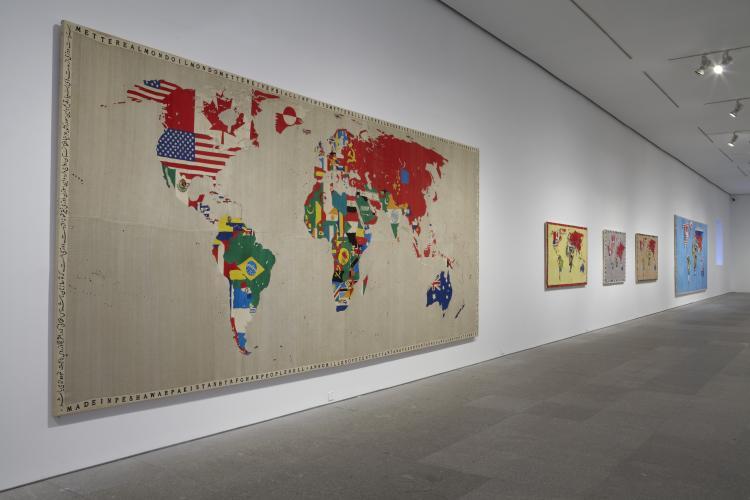 Exhibition view. alighiero boetti. game plan, 2011