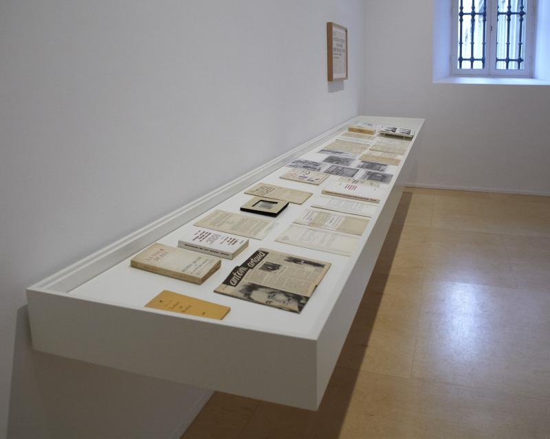 Exhibition view. Espectres of Artaud. Language and art in the 1950's, 2012