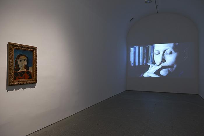 Vista de la exposición. Las biografías de Amos Gitai. 2014