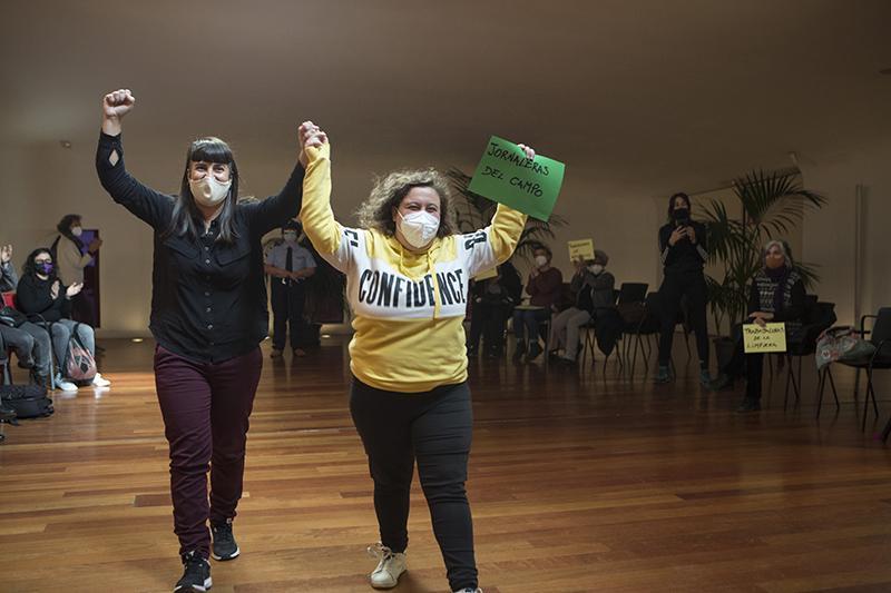 Elvira Megías, fotografía de Verónica Domínguez y Ana Pinto Lepe (asociación Jornaleras de Huelva en lucha), Madrid, 2020