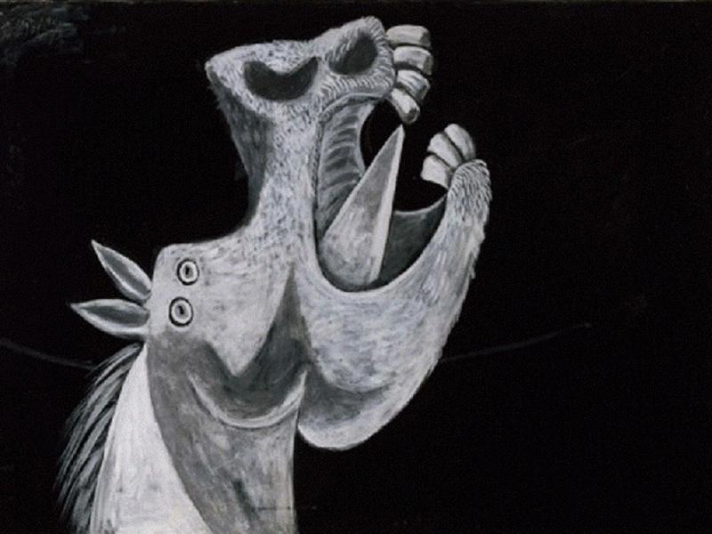 Horse Head. Sketch for «Guernica». Pablo Picasso