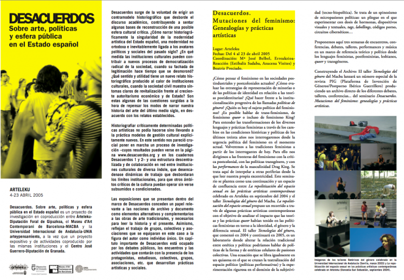 Desacuerdos 2005. Archivo Arteleku