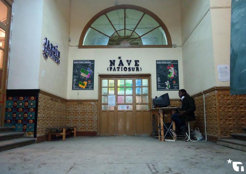 CSA (Centro Social Autogestionado) La Tabacalera, en la antigua fábrica de tabacos de Lavapiés