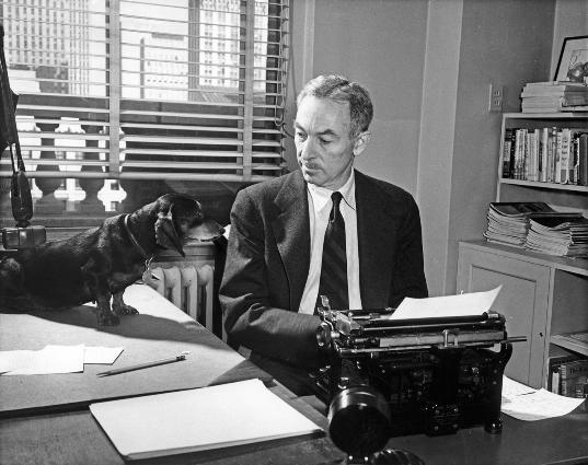 Elwyn B. White con Minnie