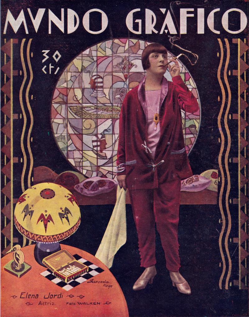 Elena Jordi, revista Mundo gráfico, 21 de julio de 1926
