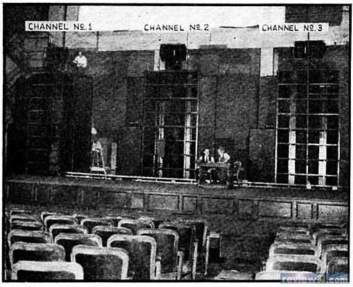 Sistema Fantasound instalado entre 1941 y 1943 en distintas salas estadounidenses