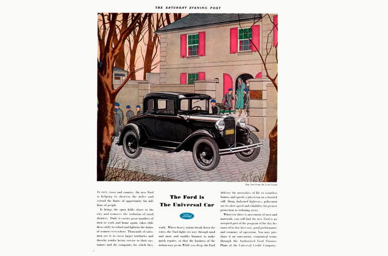 Publicidad del Ford Modelo A, 1931