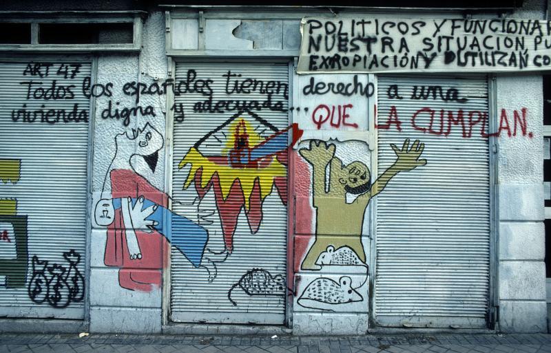 Fachada de tienda, Madrid 1982 © Heinz Hebeisen/ Iberimage