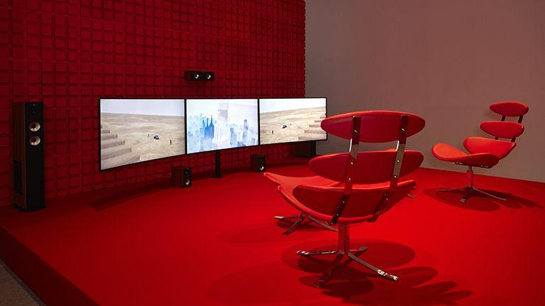Exhibition view. Hito Steyerl. Duty-Free Art, 2015