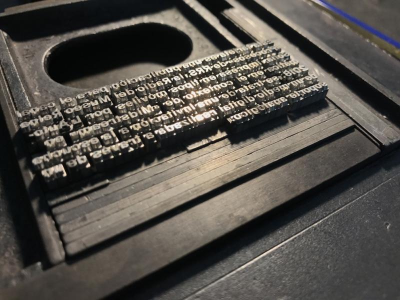 Ricardo Duque. Printing Midcasting cards. 2018