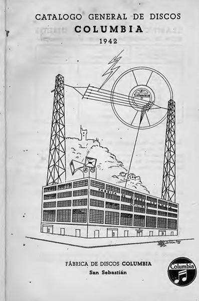 Catálogo general de discos Columbia, archivo Eresbil, 1941