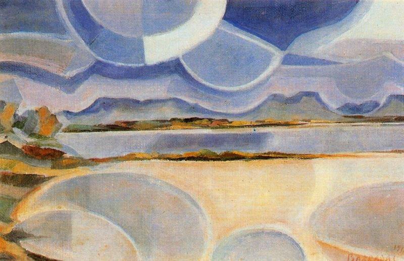 Rafael Barradas. Vibrationist Landscape. 1918. Guillermo de Osma Gallery, Madrid.