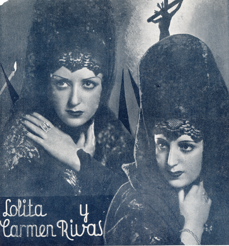 Lolita y Carmen Rivas, revista ¡Tararí!, abril 1936