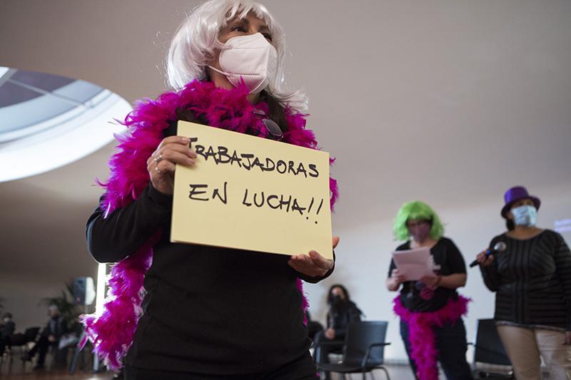 Elvira Megías, jornadas de El feminismo sindicalista que viene. Trabajadoras somos todas, Madrid, 2020