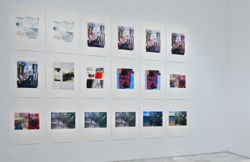Vista de la sala de la exposición. Azucena Vieites. Tableau vivant, 2013