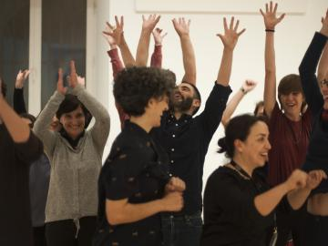 Sesión de Escuela de la Escucha. Foto: Alejandra Pastrana