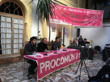 Presentación del seminario Picasso en la institución monstruo en La Casa Invisible de Málaga. 2017. Fotografía: Sara Buraya