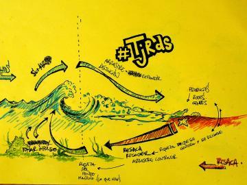 @axelnomadak. Dibujo conceptual de Axel sobre el Tejiendo redes, 2013