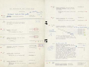 Script of El Mensaje de Granada} (reproduction. From the exhibition catalogue. Desbordamiento de Val del Omar, 2011