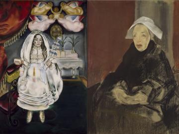 María Blanchard. La comulgante, 1914-1920 / María Blanchard. Bretona, 1930-1932