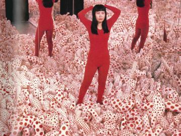 Yayoi Kusama. Floor Show. Installation. Castellane Gallery, New York